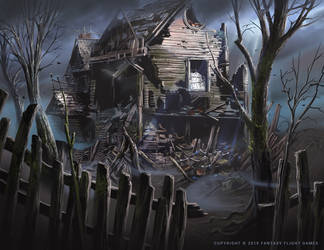 Witch House Ruins by Nele-Diel