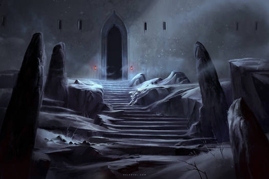 Entrance to the Snow Fortress by Nele-Diel