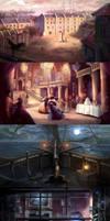 Moonlight Smugglers Background Illustrations