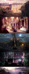 Moonlight Smugglers Background Illustrations by Nele-Diel