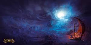 'On A Moonlit Night' Album Cover Illustration