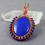 Copper and Blue Quartz Pendant