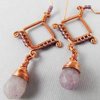 Copper and Purple Quartz by Gailavira