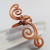 Copper Swirly Ring by Gailavira