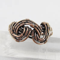 Freeform Woven Copper Ring