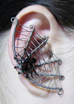 Spider Web Ear Cuff