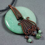 Copper and Aventurine Donut Necklace