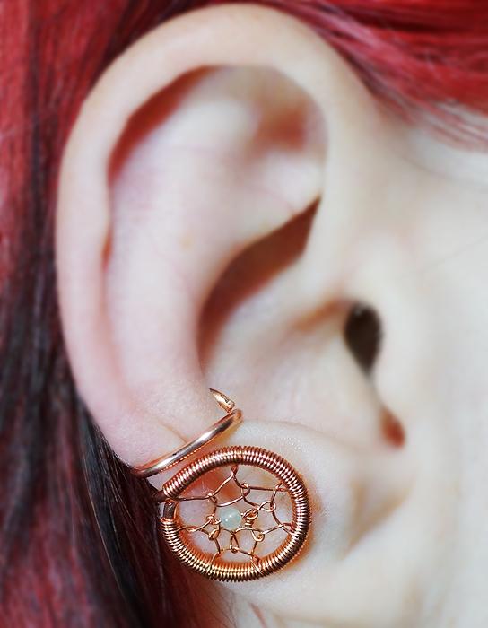 Dream Catcher Ear Cuff By Gailavira On DeviantArt Stunning Dream Catcher Ear Cuff