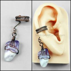 Copper and Amethyst Ear Cuff