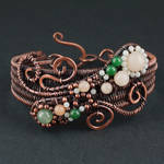 Aventurine, Amazonite and Copper Woven Bracelet