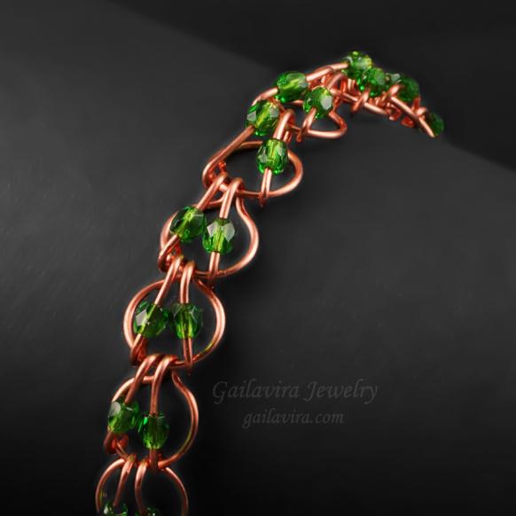 New Free Tutorial - Beaded Hoop Link Bracelet by Gailavira
