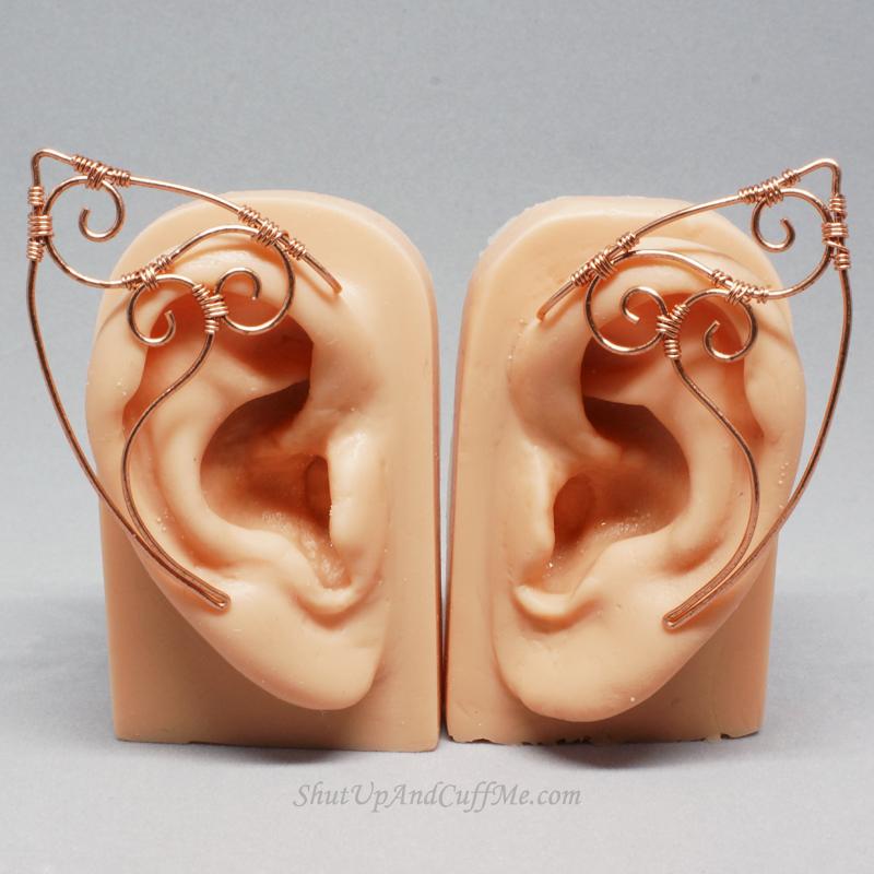 Copper Swirls Elf Ears by Gailavira