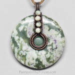 Peace Jade Donut and Copper Necklace