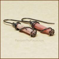 Rhodonite Crystal Point Earrings
