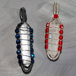 Wire Wrapped Crystal Point Pendants