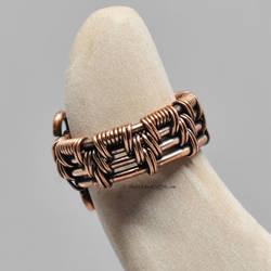 Woven Copper Ear Cuff