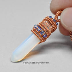 Opalite Crystal Point Necklace