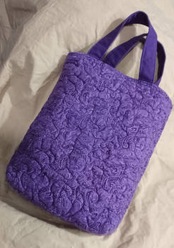 Quilted book tote