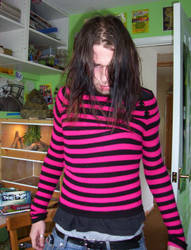 Billy in Pink and Black
