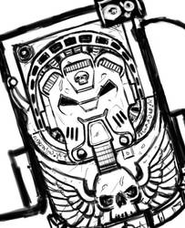 Sketch: wh40k Terminator by Harc