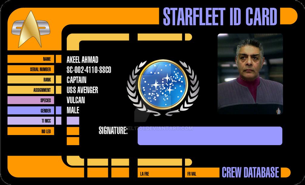 Starfleet ID Card by akeel1701