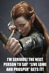 Don't call Tauriel a Vulcan