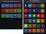 Social Media Icons in the style of Adobe Creative