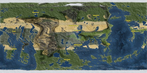 World Map of Te'armant - The Heart of the Empire