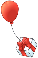 Balloon - Red by BankOfLilypad