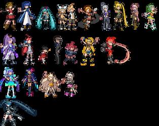 Vocaloid Pokemon Sprites by CherushiMetsumari