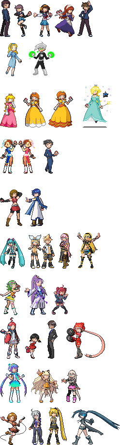 Pokemon Sprites by CherushiMetsumari