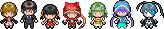 Vocaloid Overworld Sprites by CherushiMetsumari