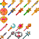Sailor Moon Crystal Transforming Items by CherushiMetsumari