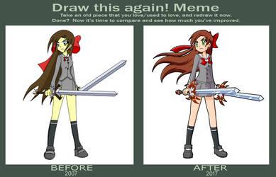 Draw This Again Meme: Cherushi Metsumari (10 yrs)