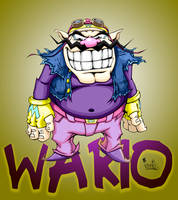 wario with bg by pnutink