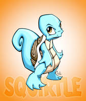 squirtle with bg by pnutink
