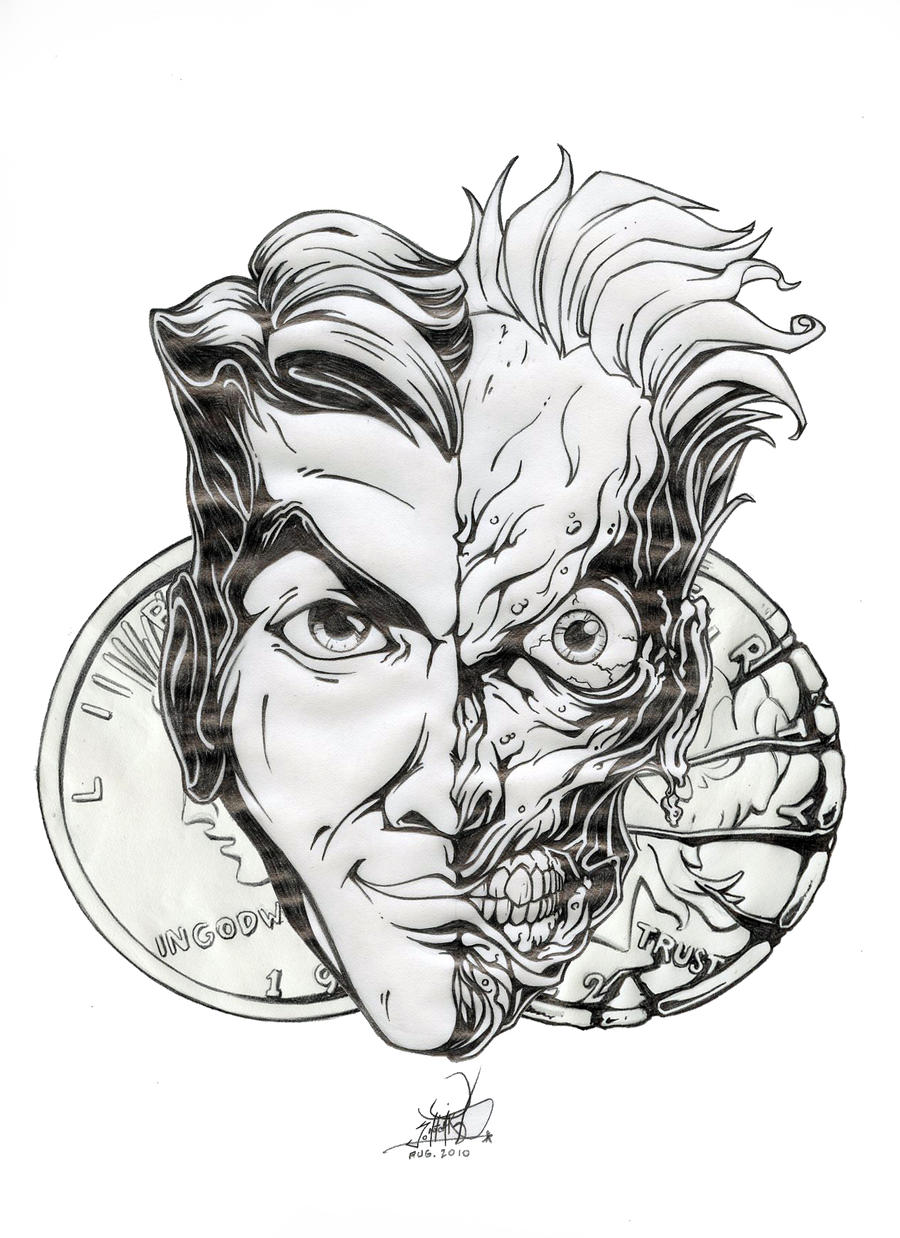 Two face by pnutink on deviantart for Two faced tattoo