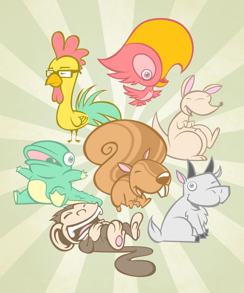spirit animals by pnutink