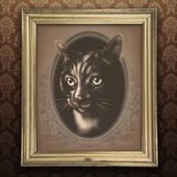 Vintage Pet Portrait - Franny (framed)
