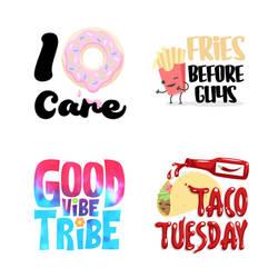 Sayings Stickers set 1 by pnutink