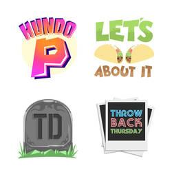 Sayings Stickers set 2 by pnutink