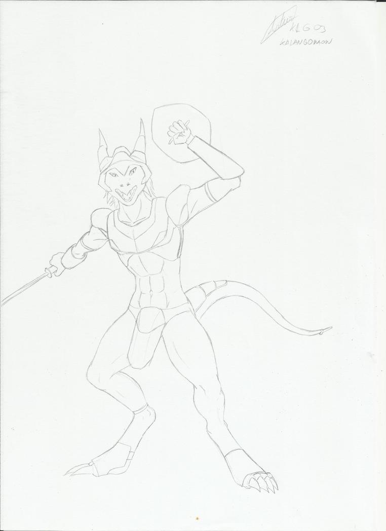 dragon warrior by Kalangomon