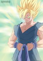Goku. Happy New Year 2011 by Avenger94