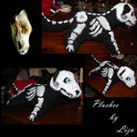 Wolf Skeleton Plushie by Lizu-chan