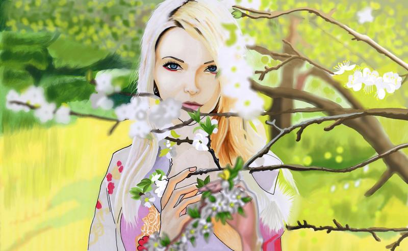TheLadyFalcon Apple Tree Bloom fanart