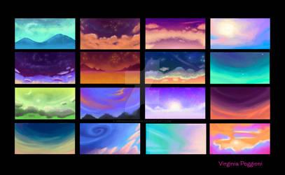 Colors background Spyro by Virginiapoggioni