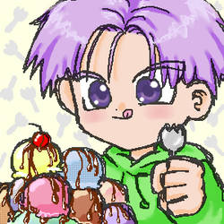 trunks with sporks n ice cream