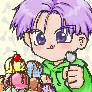 trunks with sporks n ice cream