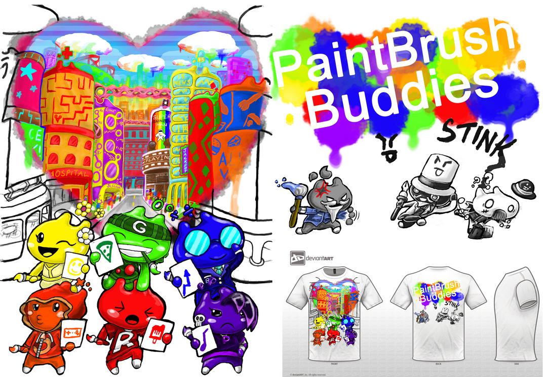 PaintBrush Buddies by yoshiunity