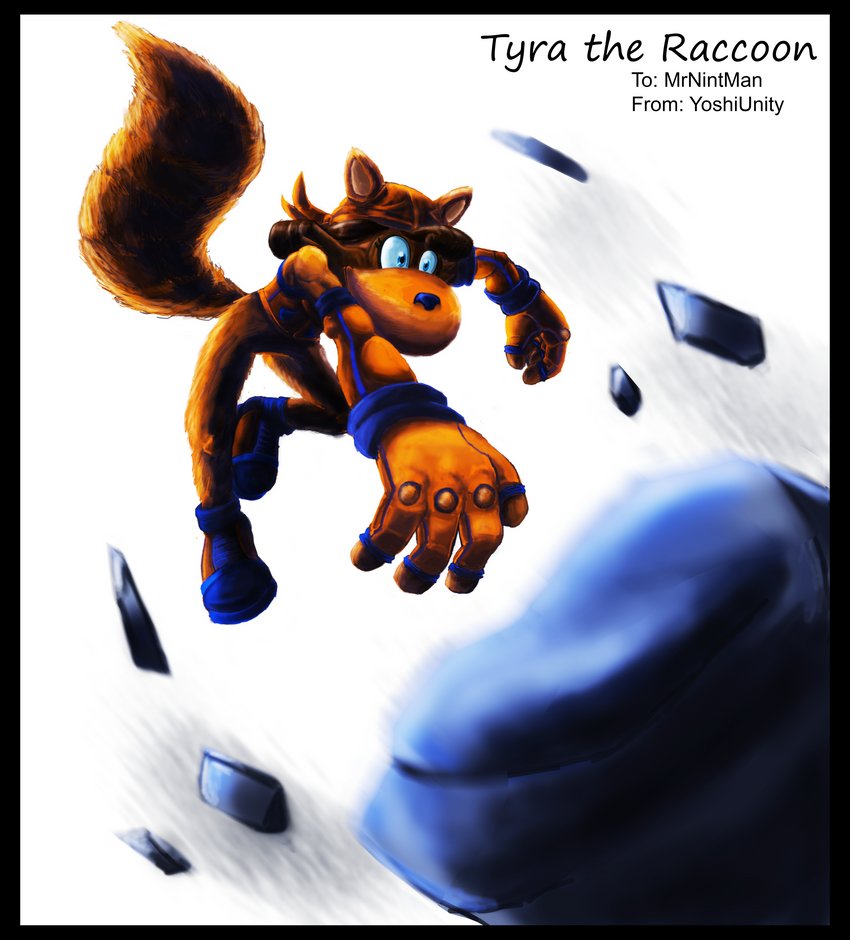 COMMISSION - Tyra the Raccoon by yoshiunity